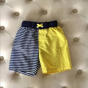 Cat & Jack Blue, Yellow, White Swim Trunks 4T